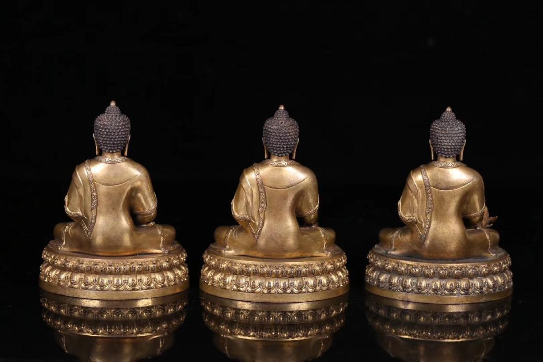 SET GILT COPPER BUDDHAN ORNAMENT - 3