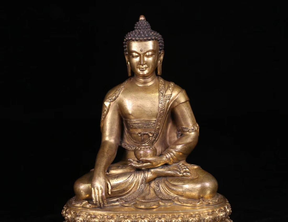 SET GILT COPPER BUDDHAN ORNAMENT - 5