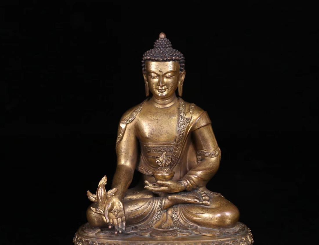 SET GILT COPPER BUDDHAN ORNAMENT - 6