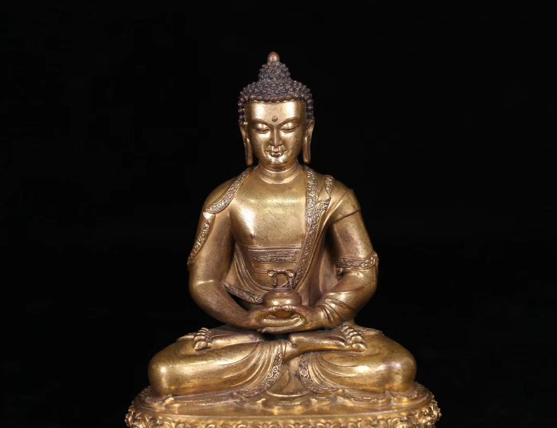 SET GILT COPPER BUDDHAN ORNAMENT - 7