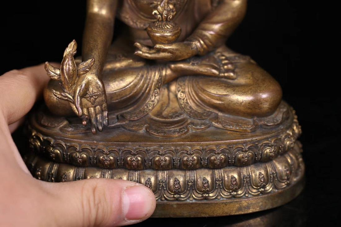 SET GILT COPPER BUDDHAN ORNAMENT - 9