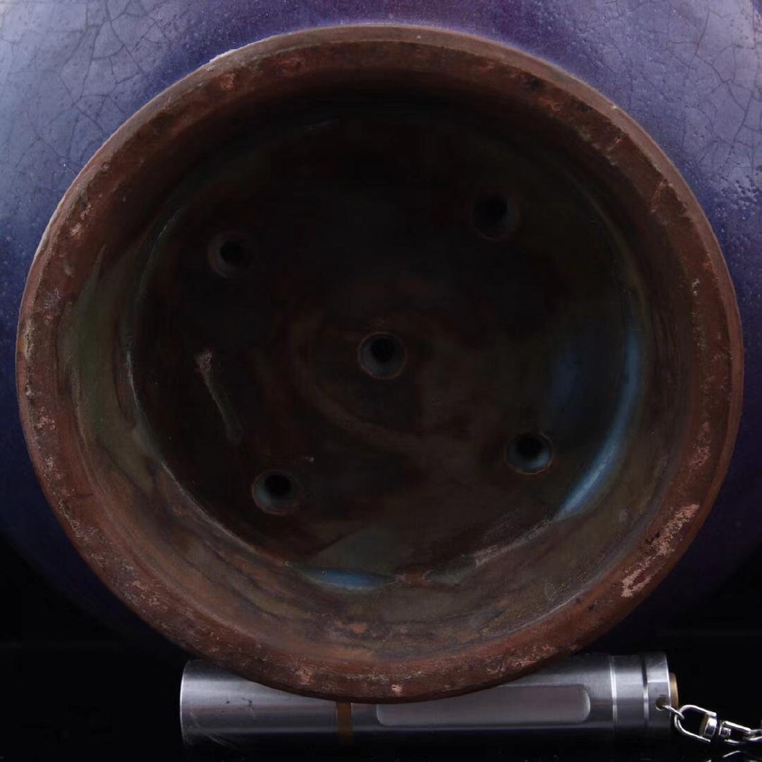 A JUN PURPLE GLAZED DISH - 8