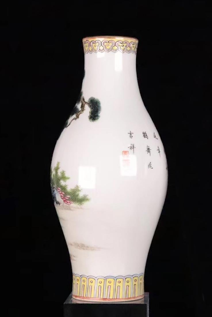 A FAMILLE-ROSE CHARACTER STORY PATTERN VASE - 3