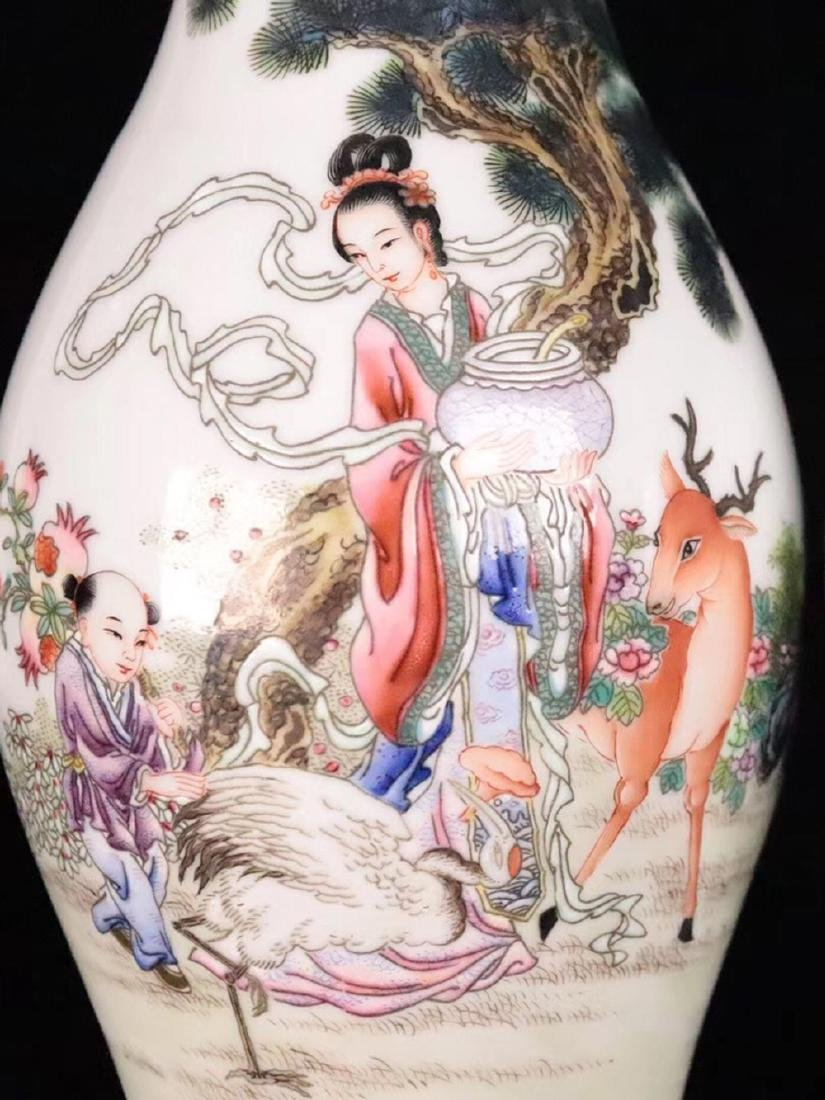 A FAMILLE-ROSE CHARACTER STORY PATTERN VASE - 7