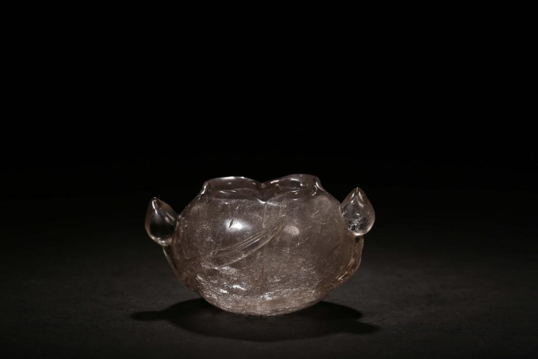 THE REPUBLIC OF CHINA, A NATURAL CRYSTAL CARVED LOTUS