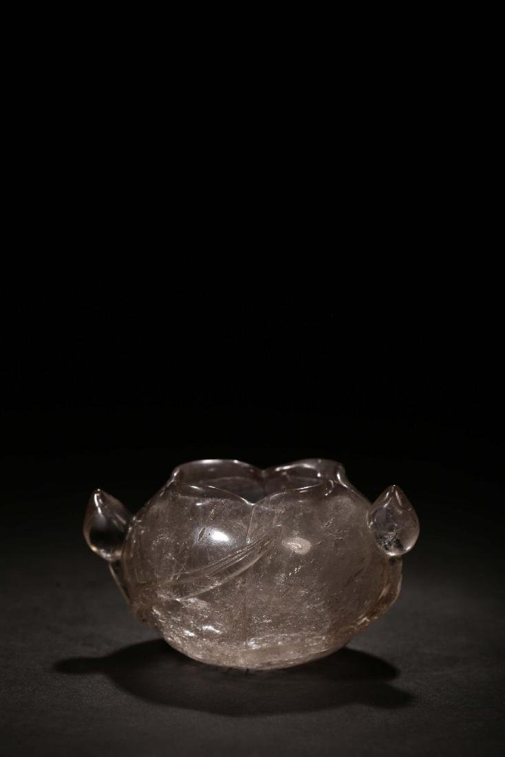 THE REPUBLIC OF CHINA, A NATURAL CRYSTAL CARVED LOTUS - 2
