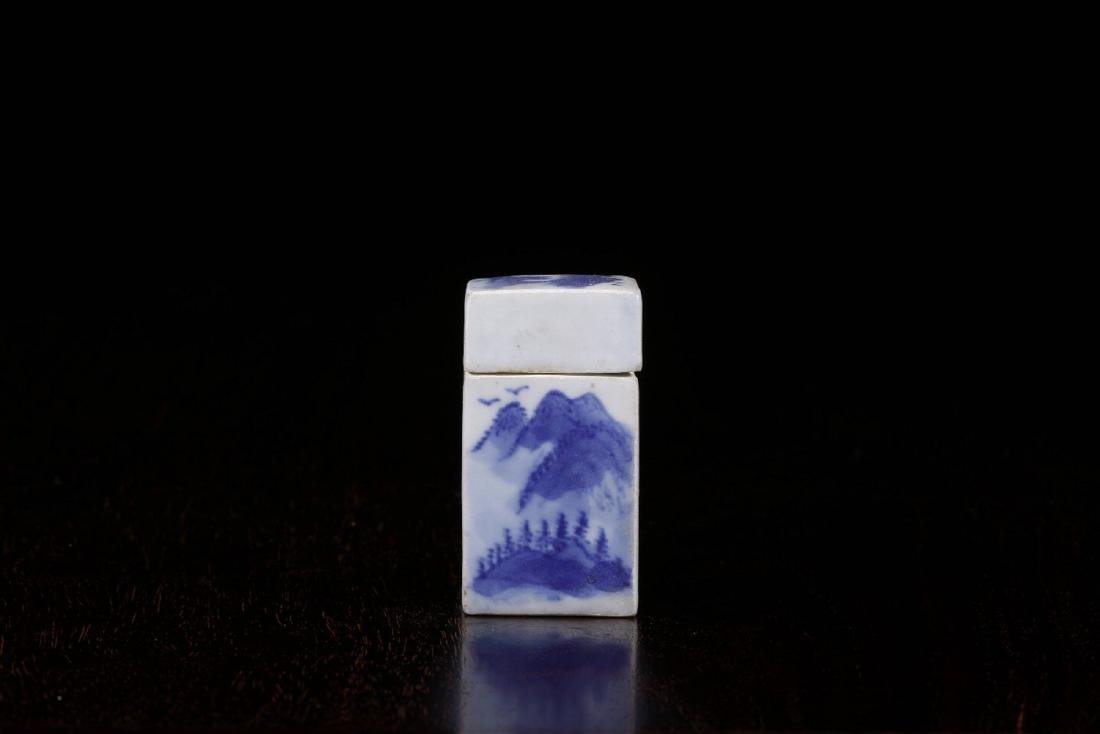 THE REPUBLIC OF CHINA, A POEM PATTERN SQURE SEAL BOX