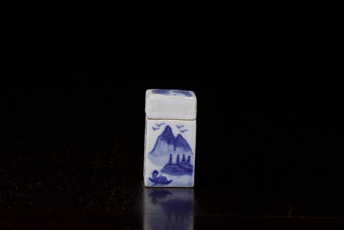 THE REPUBLIC OF CHINA, A POEM PATTERN SQURE SEAL BOX - 3