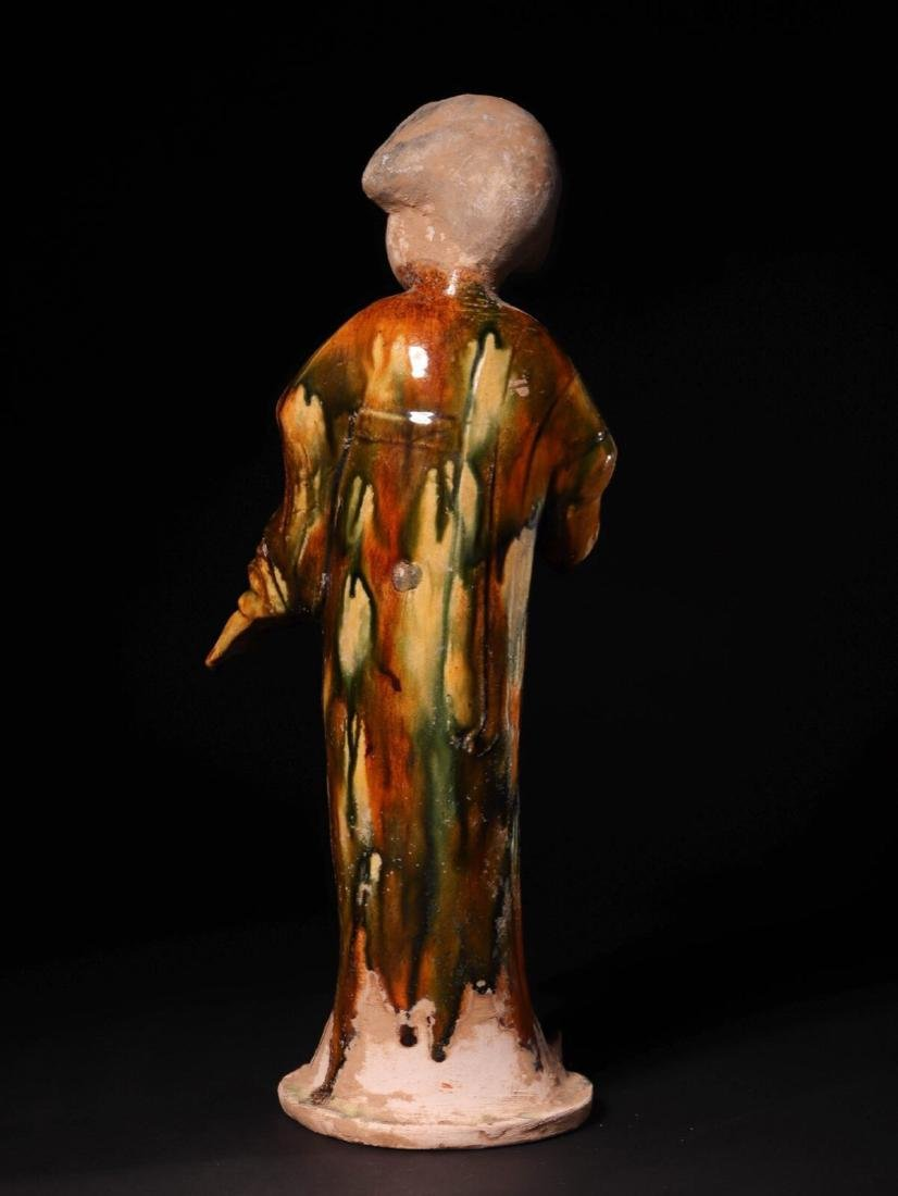 (618-907 CE) A TANG TRI-COLOR GLAZED FAT GIRL STATUE, - 4
