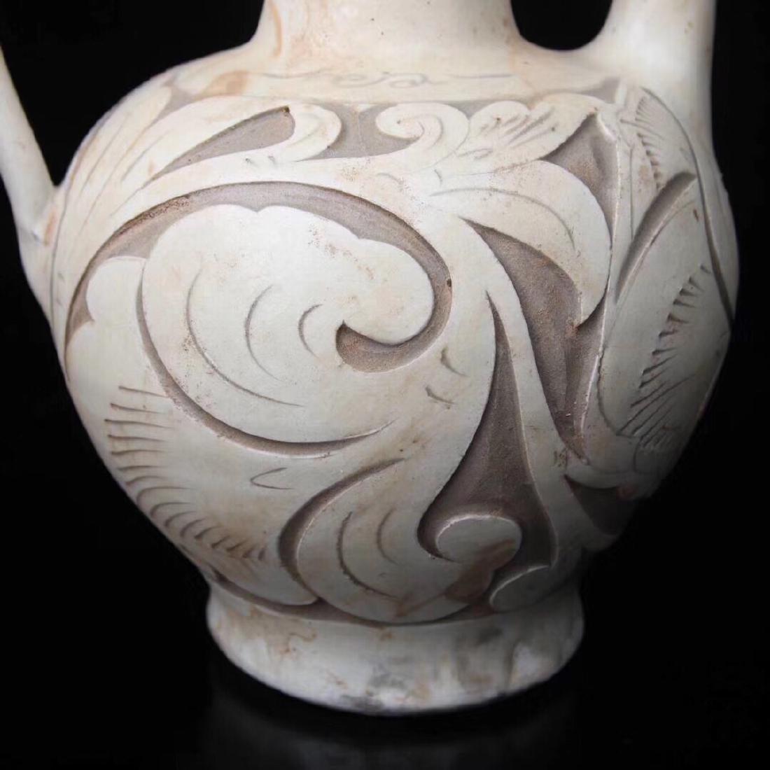 (960-1279) A YAOZHOU KILN WINE POT, SONG DYNASTY - 7