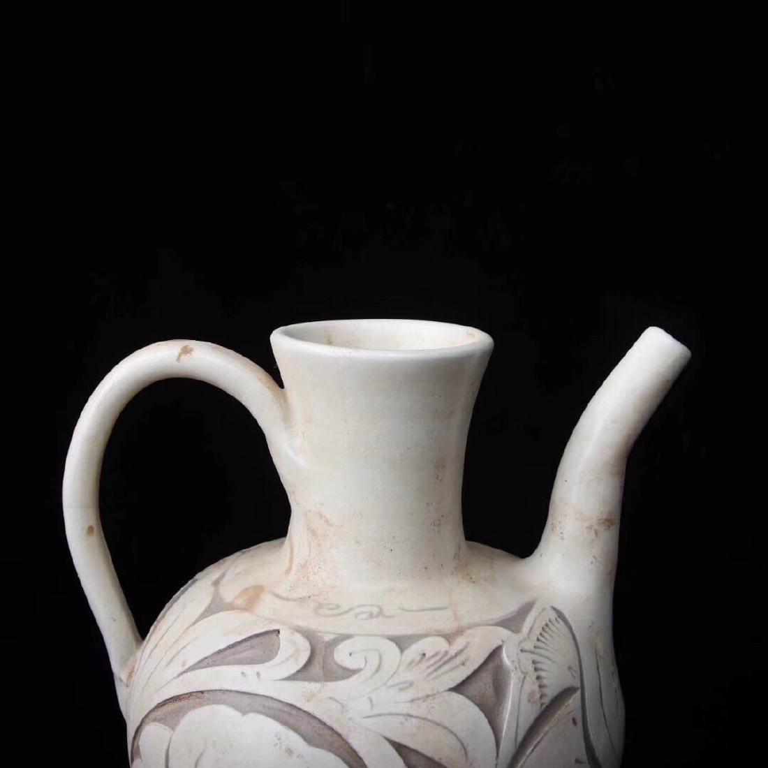 (960-1279) A YAOZHOU KILN WINE POT, SONG DYNASTY - 8
