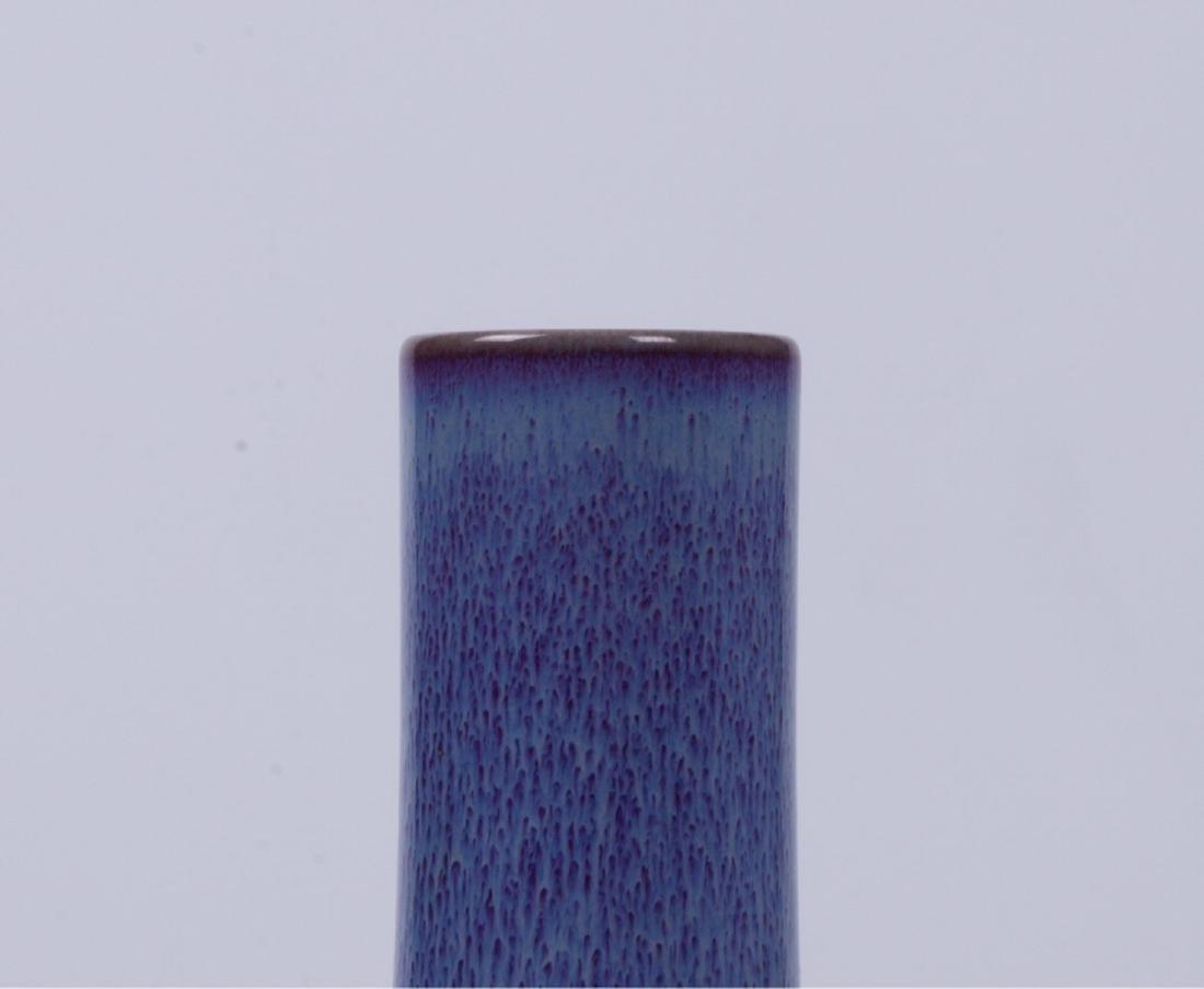 A BLUE GLAZED GLOBULAR VASE - 8