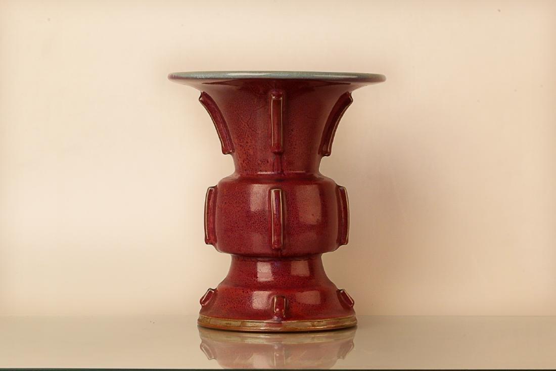 960-1279AD, JUN KILN, A ROSE PATTERN PURPLE - 2
