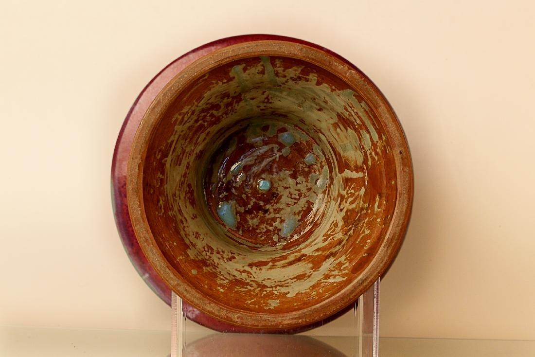 960-1279AD, JUN KILN, A ROSE PATTERN PURPLE - 3