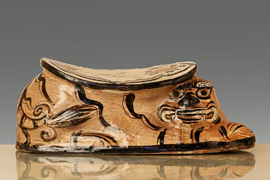 960-1279AD, CIZHOU KILN, A TIGER PATTERN PILLOW, SONG - 4