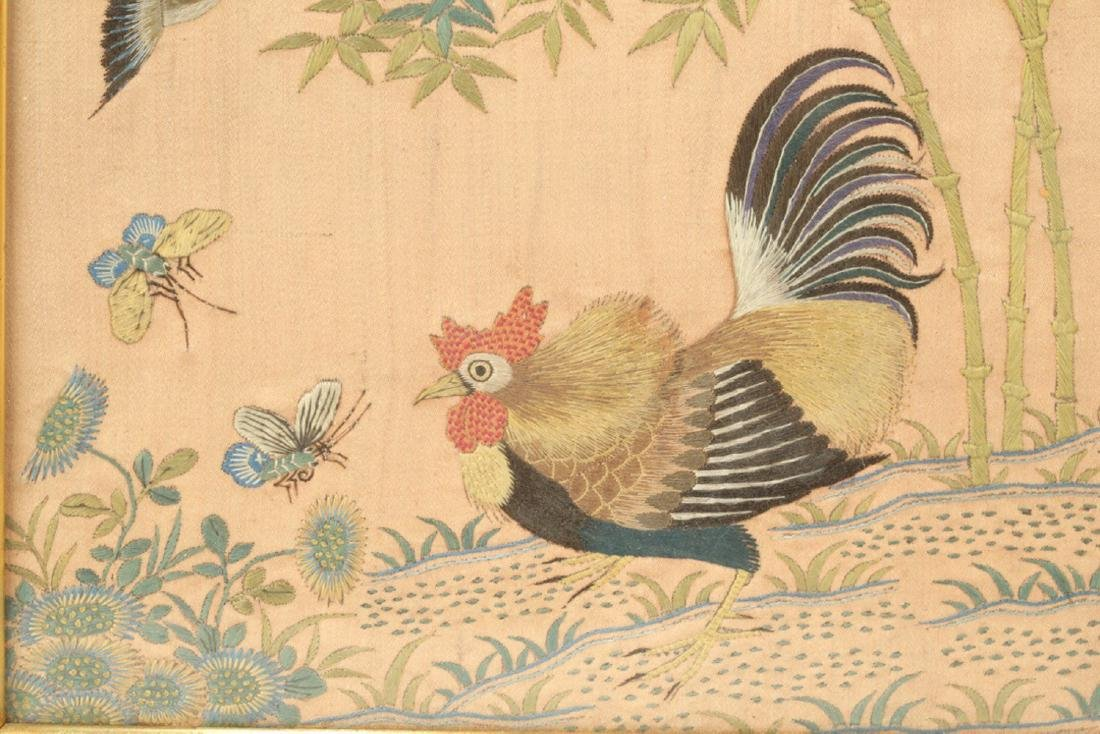 17-19TH CENTURY, A LANDSCAPE EMBROIDERY, QING DYNASTY - 2