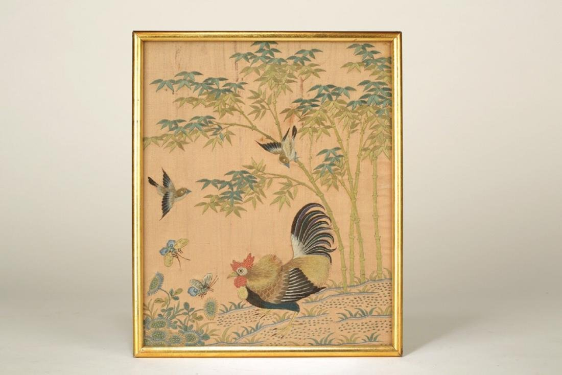 17-19TH CENTURY, A LANDSCAPE EMBROIDERY, QING DYNASTY - 4