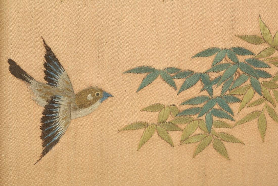 17-19TH CENTURY, A LANDSCAPE EMBROIDERY, QING DYNASTY - 6