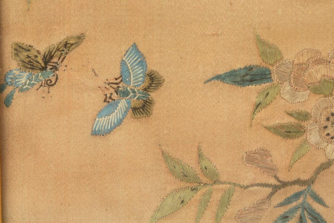 17-19TH CENTURY, A LANDSCAPE EMBROIDERY, QING DYNASTY - 7