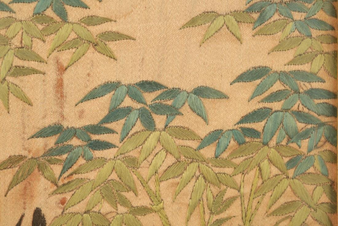 17-19TH CENTURY, A LANDSCAPE EMBROIDERY, QING DYNASTY - 9
