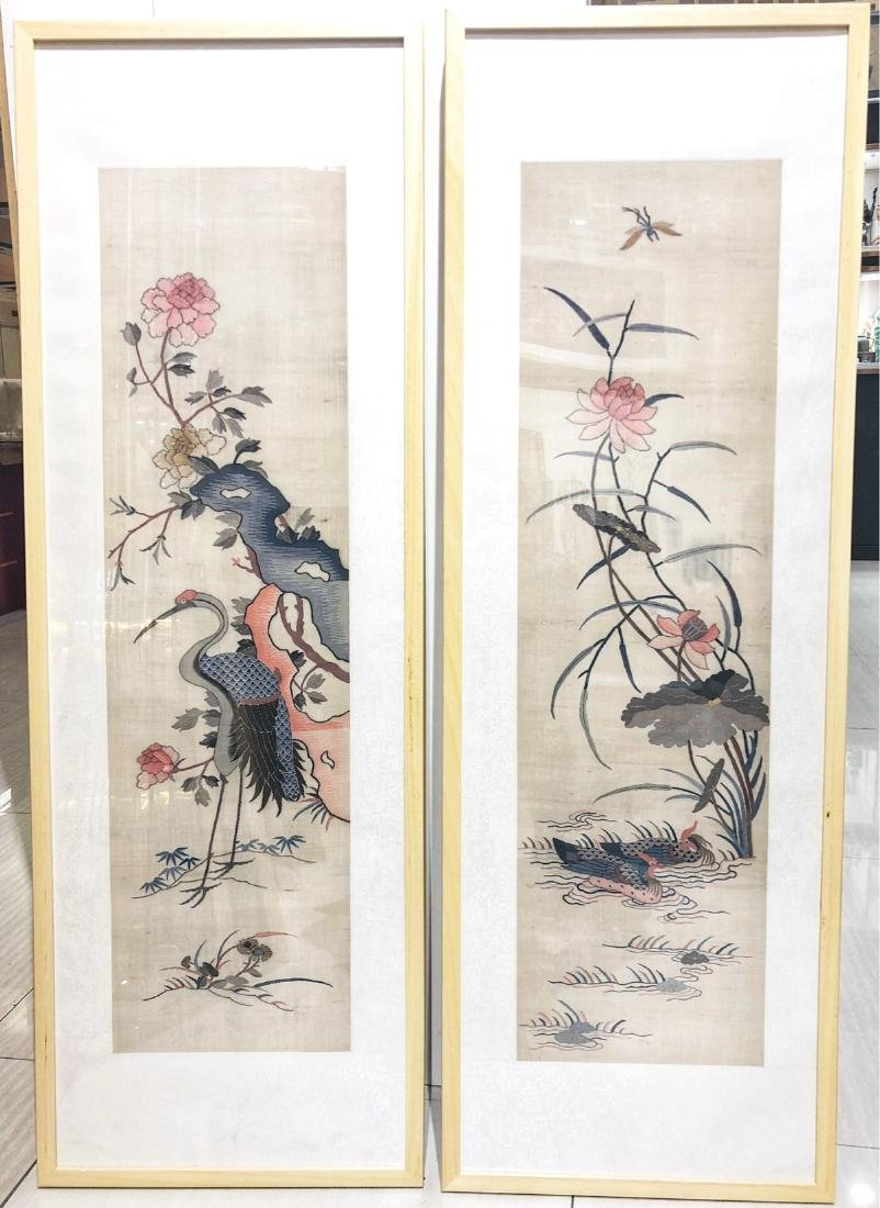 17-19TH CENTURY, A STORY DESIGN EMBROIDEY, QING DYNASTY