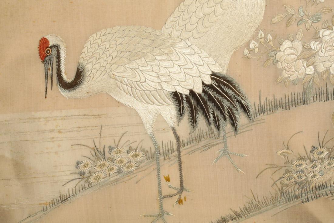 17-19TH CENTURY, A BIRD EMBROIDERY, QING DYNASTY - 2