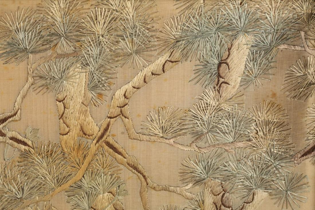 17-19TH CENTURY, A BIRD EMBROIDERY, QING DYNASTY - 3
