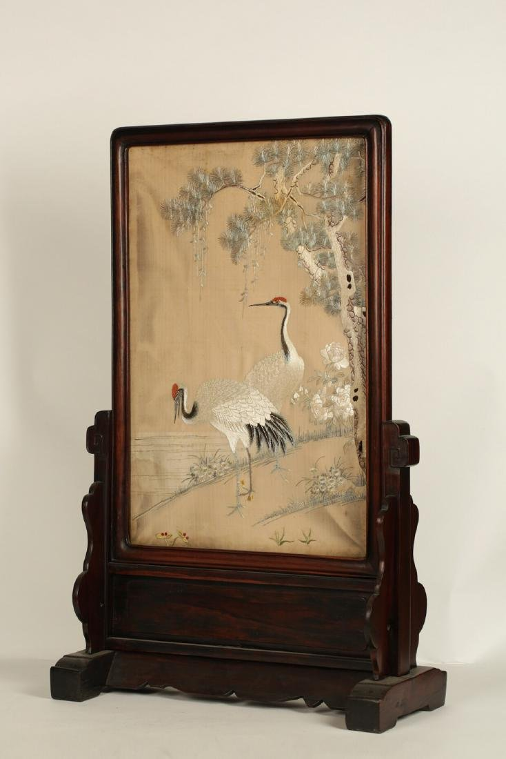 17-19TH CENTURY, A BIRD EMBROIDERY, QING DYNASTY - 5