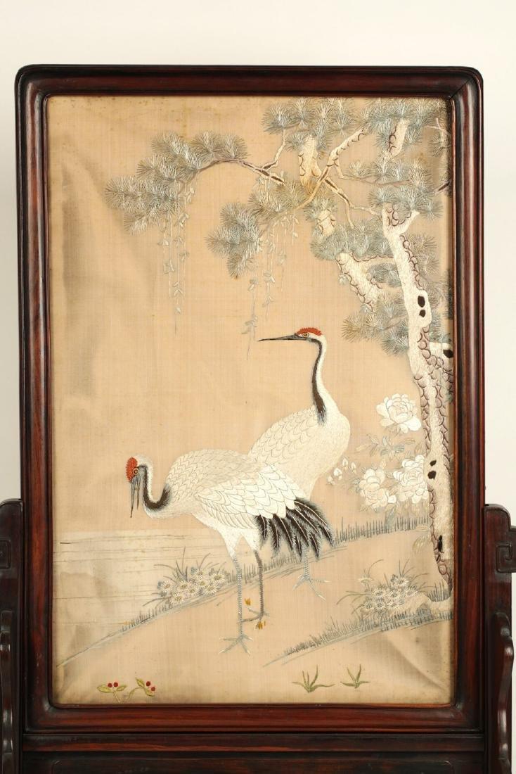 17-19TH CENTURY, A BIRD EMBROIDERY, QING DYNASTY - 9