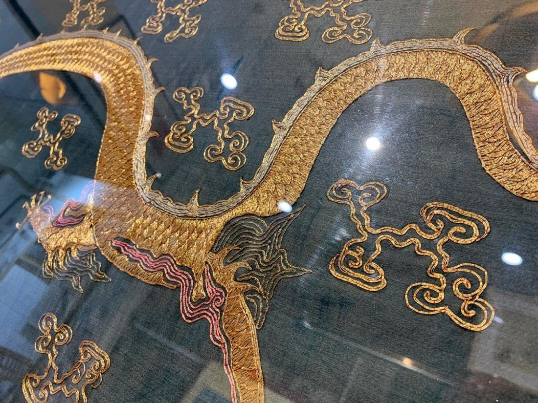 17-19TH CENTURY, A DRAGON DESIGN EMBROIDERY BANNER , - 9