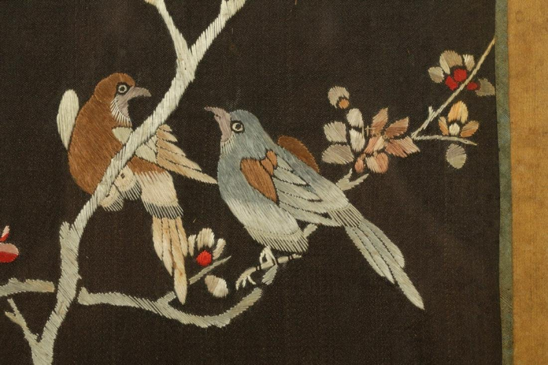 17-19TH CENTURY, A FLORIAL PATTERN EMBROIDERY, QING - 3