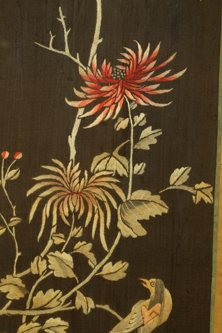 17-19TH CENTURY, A FLORIAL PATTERN EMBROIDERY, QING - 7