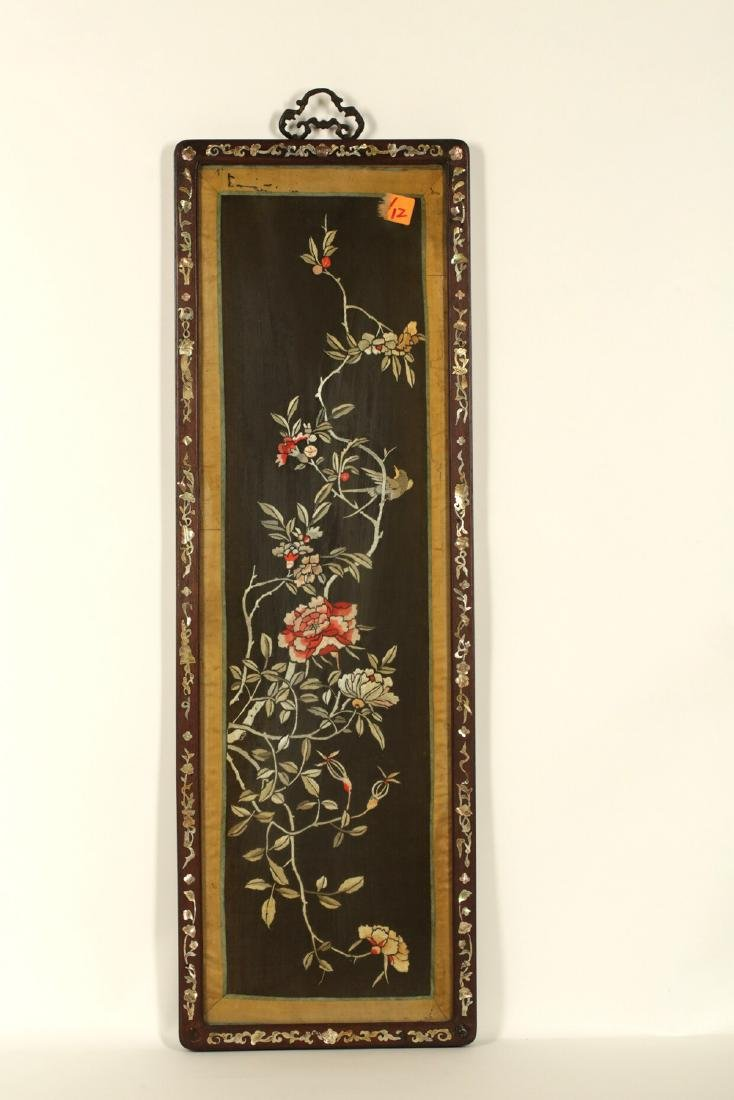 17-19TH CENTURY, A FLORIAL PATTERN EMBROIDERY, QING - 8