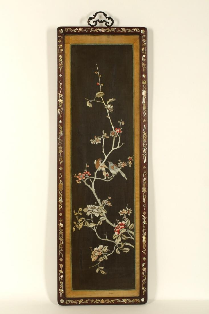 17-19TH CENTURY, A FLORIAL PATTERN EMBROIDERY, QING - 9