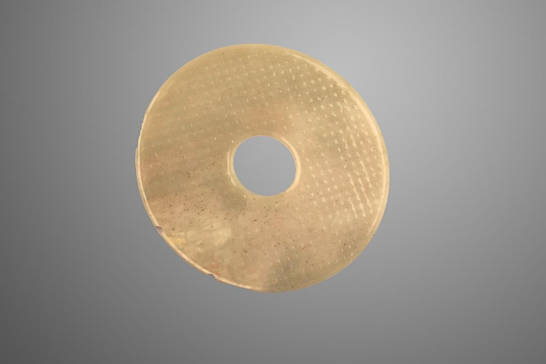 206 BC-220 AD ,A JADE DISC , HAN DYNASTY