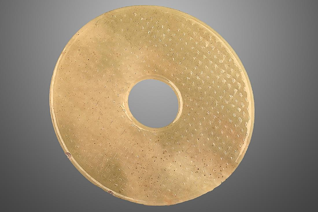 206 BC-220 AD ,A JADE DISC , HAN DYNASTY - 3