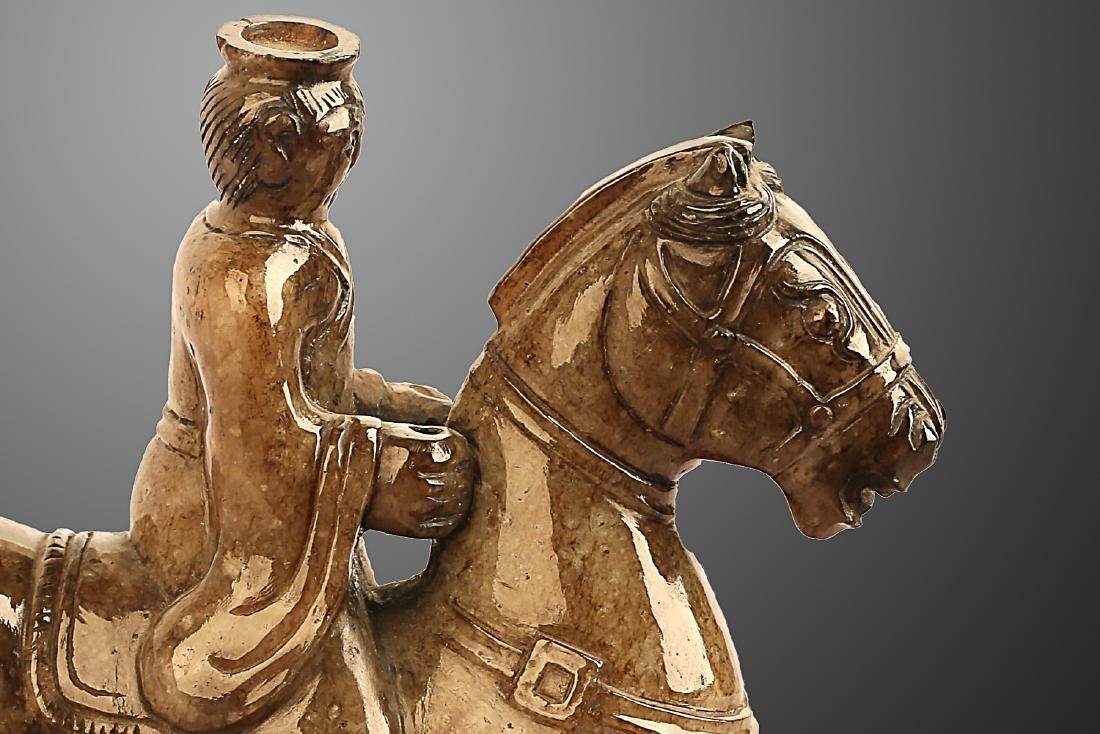 206 BC-220 AD, A HORSE RIDING PATTERN HETIAN JADE , HAN - 2