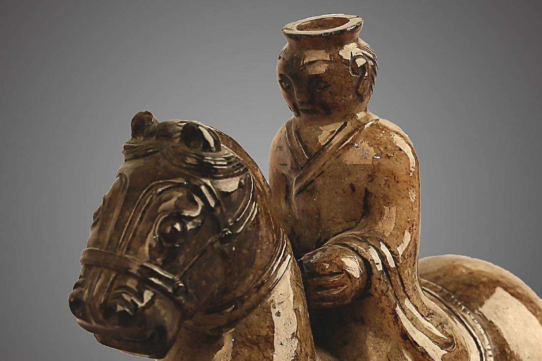 206 BC-220 AD, A HORSE RIDING PATTERN HETIAN JADE , HAN - 3