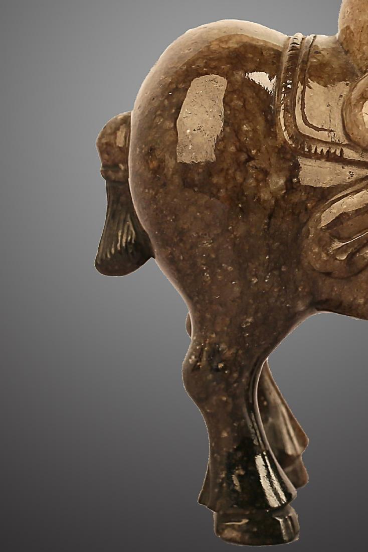 206 BC-220 AD, A HORSE RIDING PATTERN HETIAN JADE , HAN - 5