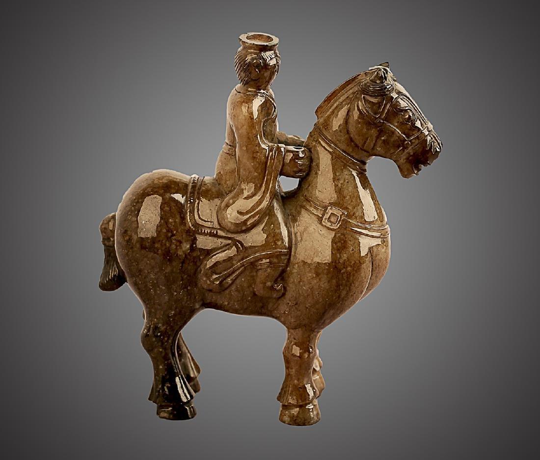 206 BC-220 AD, A HORSE RIDING PATTERN HETIAN JADE , HAN - 6