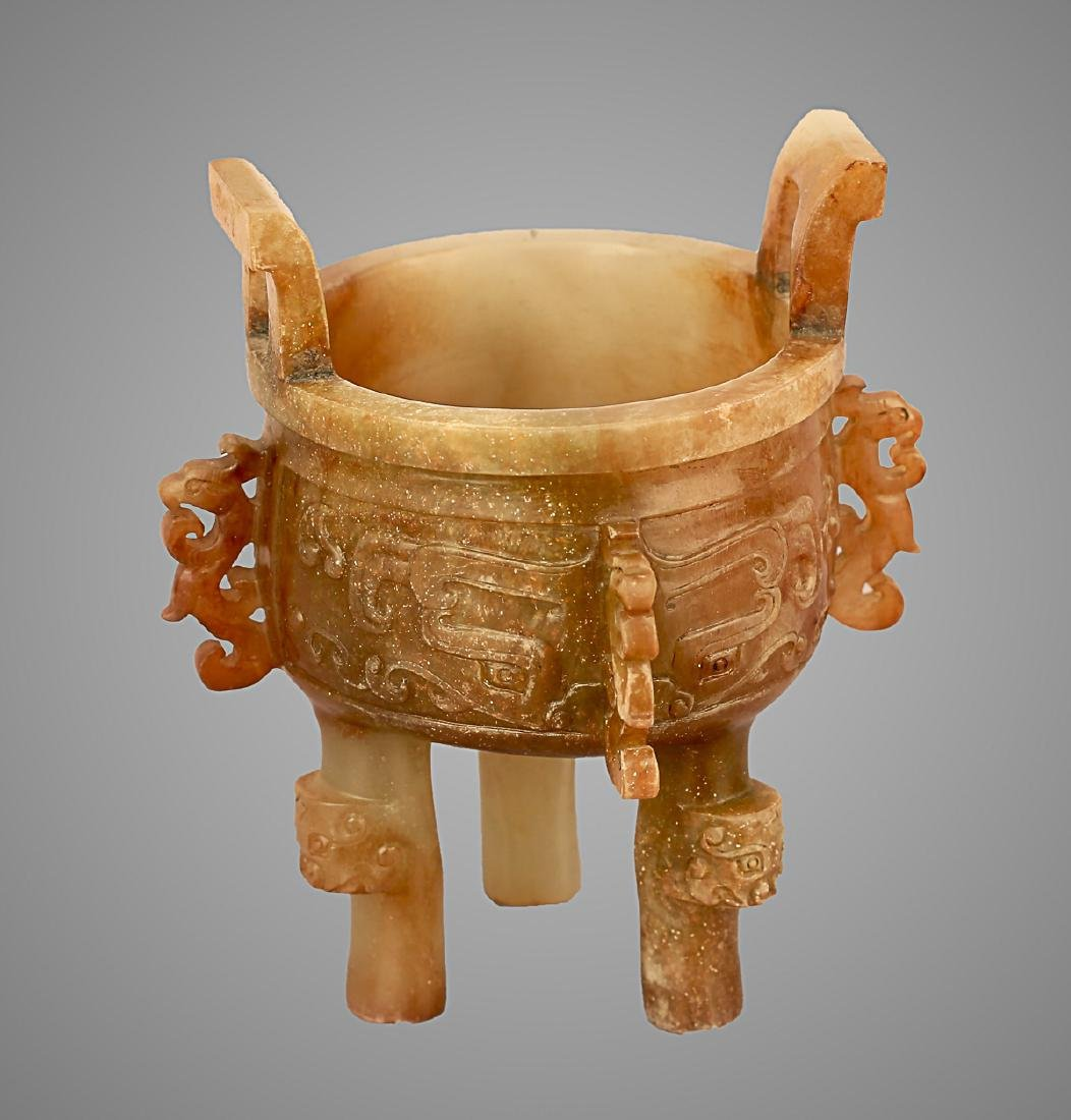 206 BC-220 AD, A PHOENIX PATTERN TRIPOD VESSEL, HAN