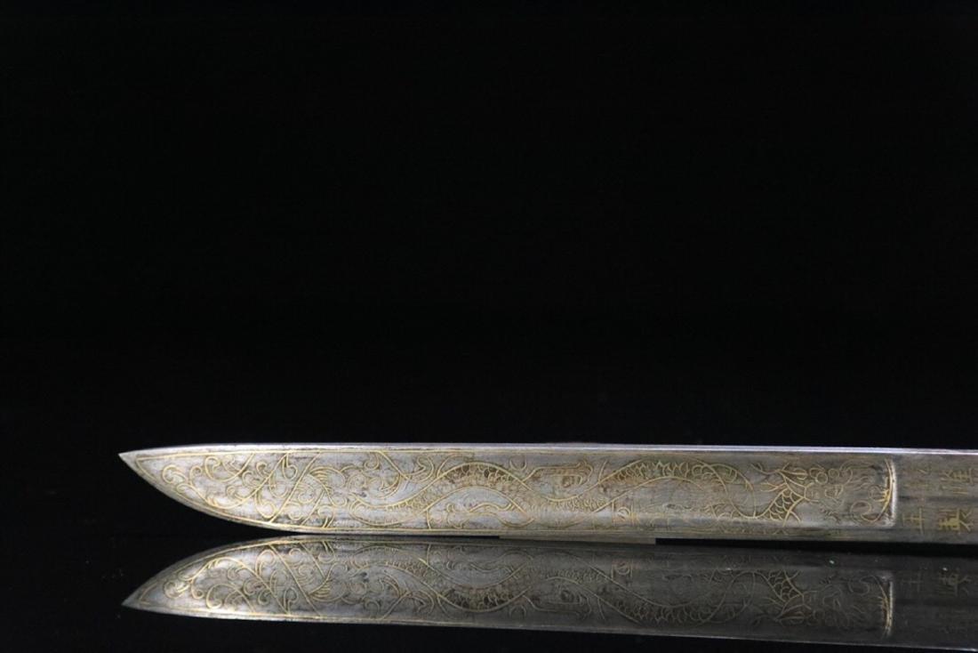17-19TH CENTURY, AN IMPERIAL HETIAN JADE DAGGER, QING - 5