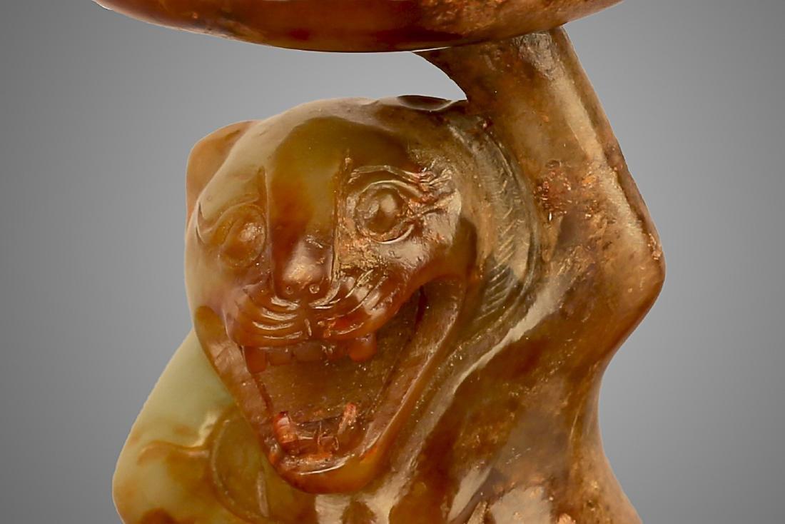 206 BC-220 AD, A BEAR PATTERN HILL CENSER, HAN DYNASTY - 2