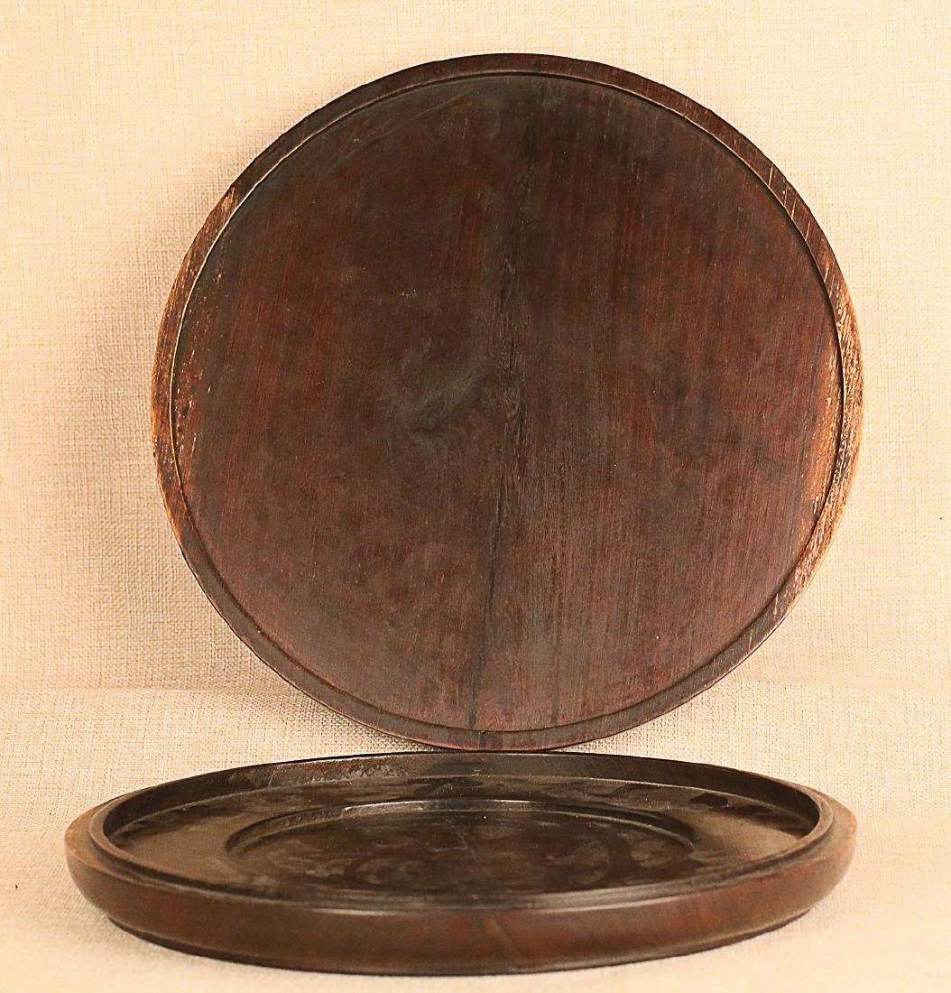 17-19TH CENTURY, A TREASURES INLAY ROSEWOOD BOX, QING - 4