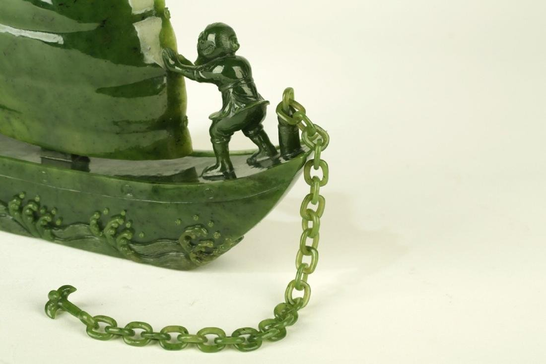 17-19TH CENTURY, A STORY DESIGN HETIAN JADE ORNAMENT, - 4