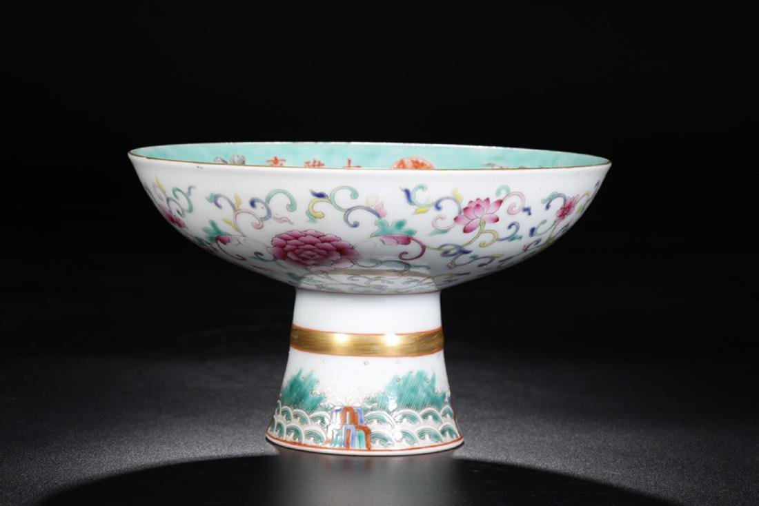 17-19TH CENTURY, A FLORAL PATTERN PORCELAIN PLATE, QING