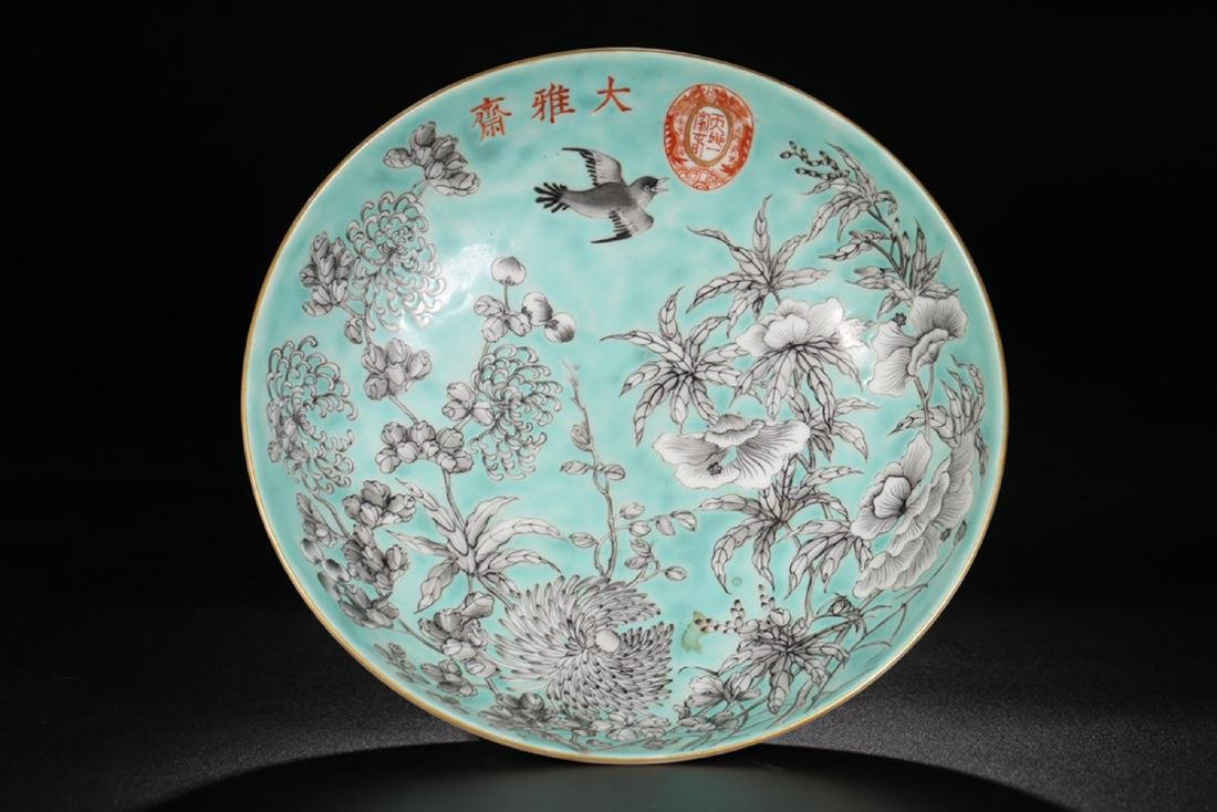 17-19TH CENTURY, A FLORAL PATTERN PORCELAIN PLATE, QING - 2