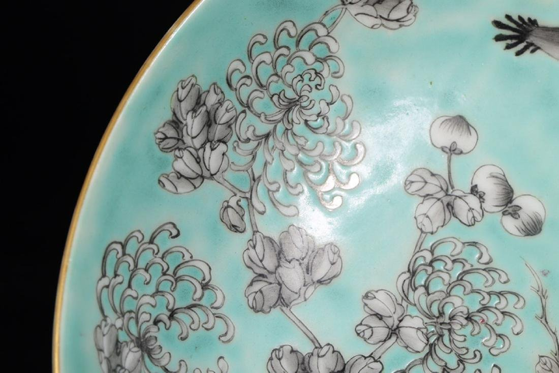 17-19TH CENTURY, A FLORAL PATTERN PORCELAIN PLATE, QING - 5