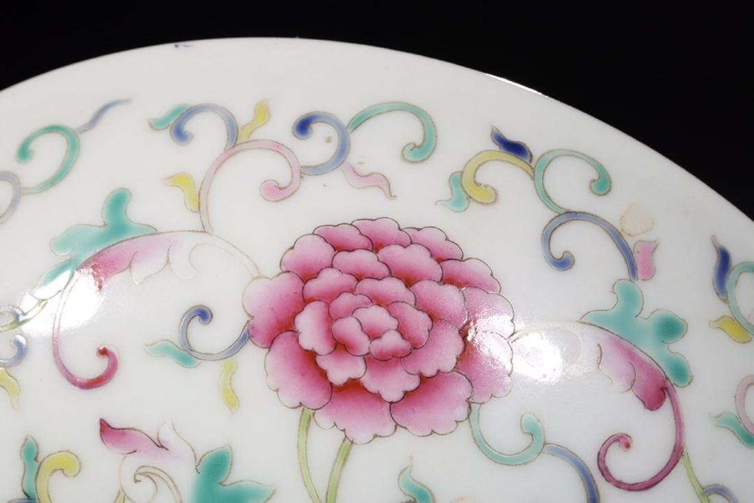 17-19TH CENTURY, A FLORAL PATTERN PORCELAIN PLATE, QING - 7