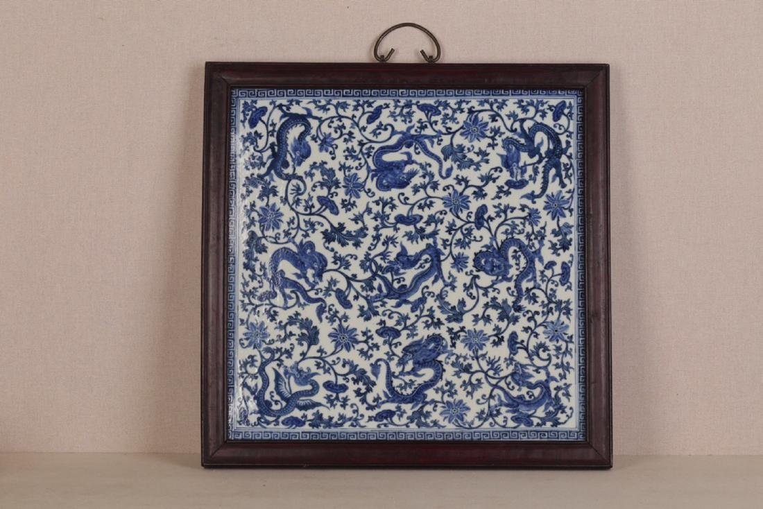 17-19TH CENTURY, A PORCELAIN HANGING BOARD, QING